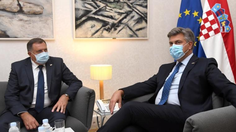 Andrej Plenković i Milorad Dodik (Foto: Josip Regovic/PIXSELL)