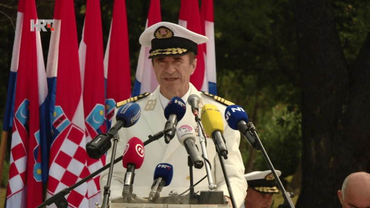 Croatian Armed Forces Chief of General Staff, Admiral Robert Hranj (Photo: HRT)