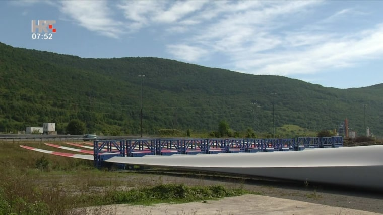Die Arbeiten am Windpark sind bereits in vollem Gange (Foto: HRT)