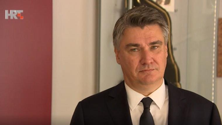 Der kroatische PräsidentZoranMilanović(Foto: HRT)