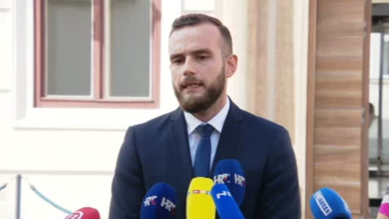 Minister of Labor and the Pension System Josip Aladrović (Photo: HRT)