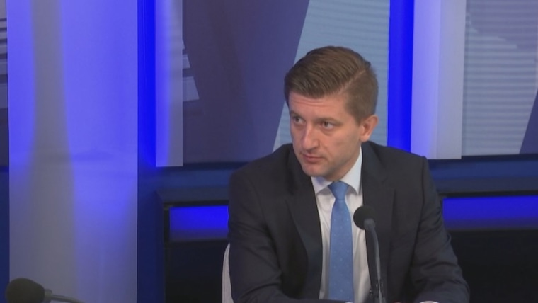 Deputy Prime Minister and Finance Minister Zdravko Marić (Screenshot: HRT)