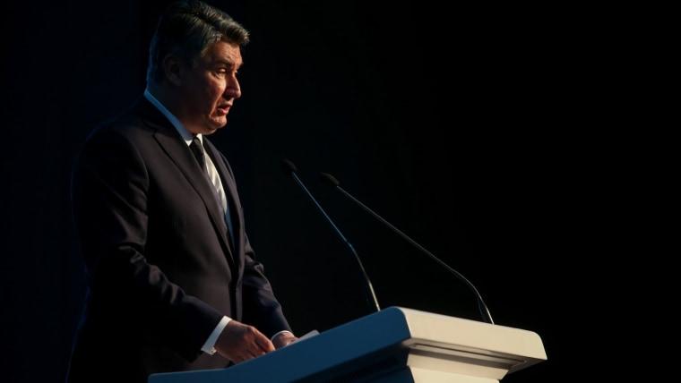 President Zoran Milanović in Pazin (Photo: Matija Habljak/PIXSELL)