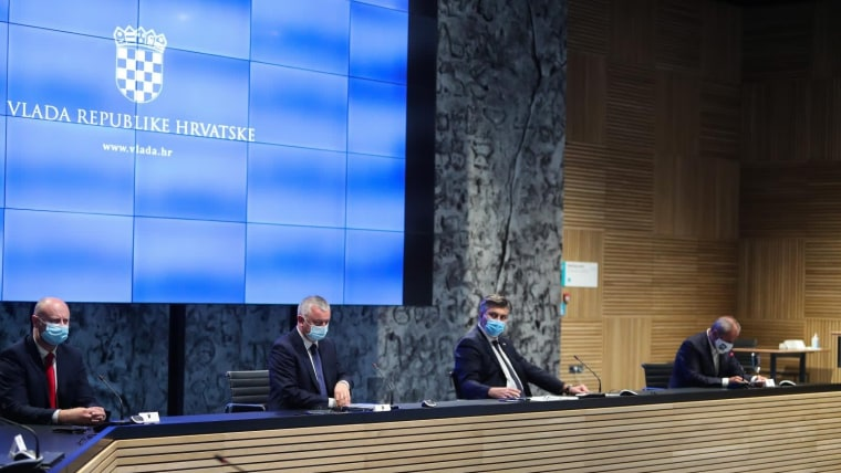 A scene from today's government cabinet session (Photo: Luka Stanzl/PIXSELL)