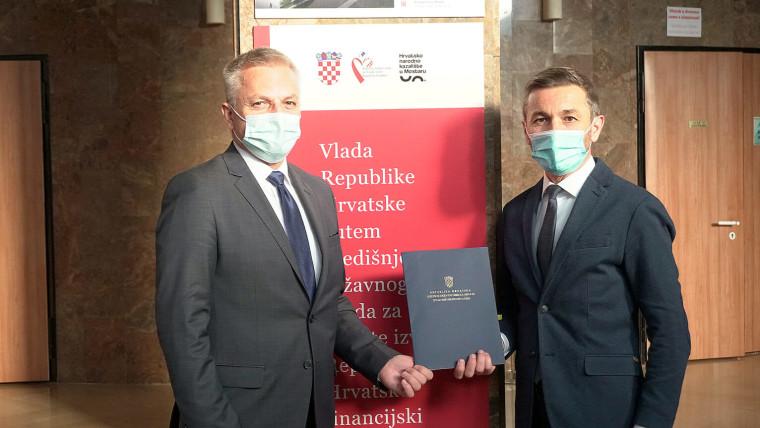 Zvonko Milas i Ivan Vukoja (Foto: Središnji državni ured za Hrvate izvan RH)