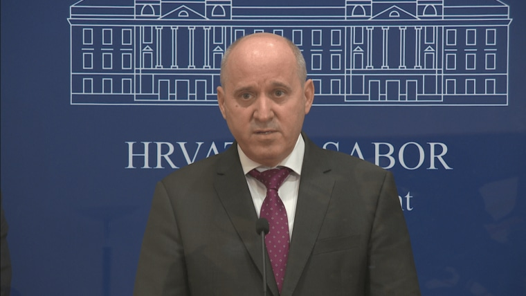 The president of the HDZ MPs' Club Branko Bačić (Photo: HRT)