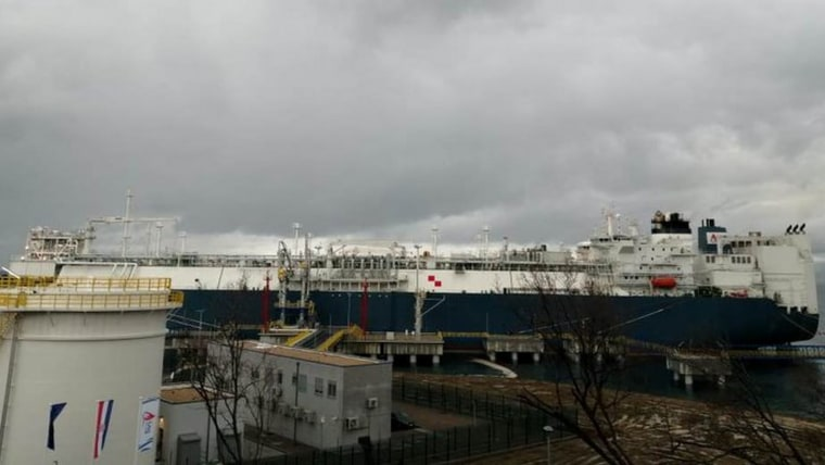 LNG terminal in Omišalj (Photo: Blanka Uzelac/HRT center Rijeka)