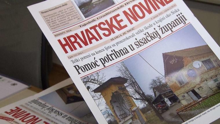 """Posebno izdanje """"Hrvatskih novina"""" (Foto: snimka zaslona/ORF Hrvati)"""
