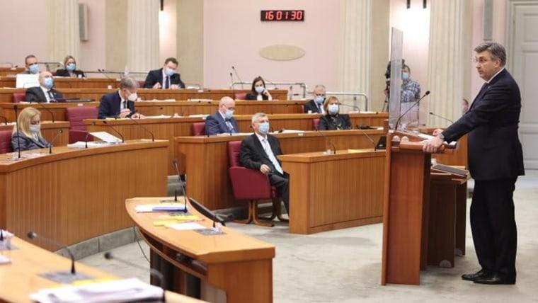 Prime Minister Andrej Plenković speaks to lawmakers  (Photo: Patrik Macek/PIXSELL))