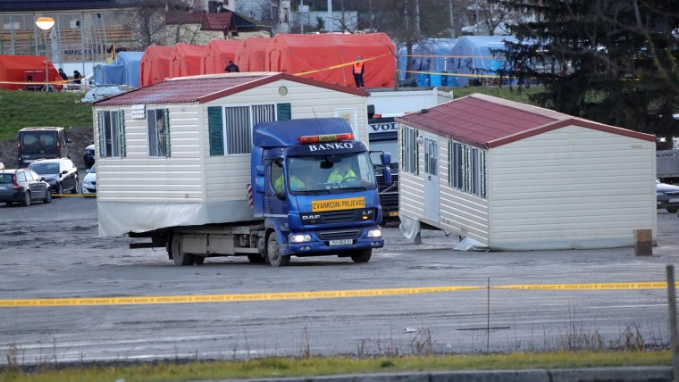 Mobile homes in Petrinja (Photo: Sanjin Strukic/PIXSELL)