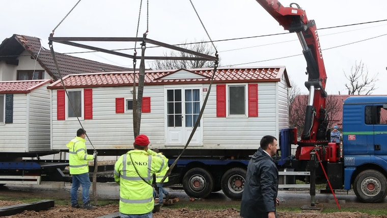 Mobile homes (Photo: Zeljko Lukunic/PIXSELL)