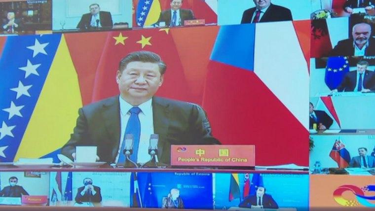 China + 17 video-summit (Screenshot: HRT)
