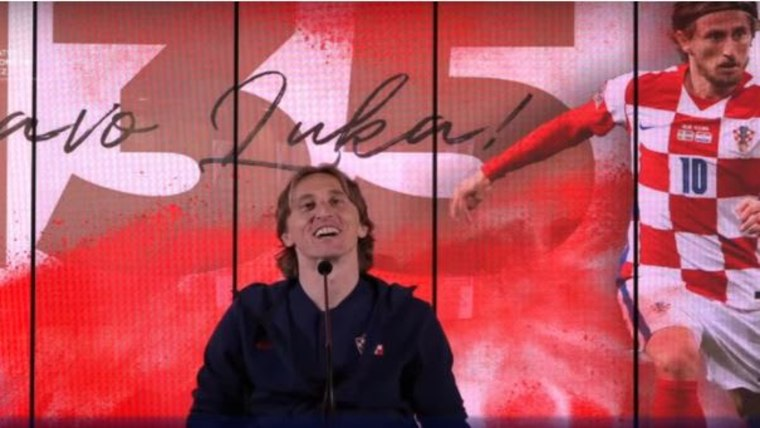 Kapitän und Rekordnationalspieler Luka Modrić (Foto: Screenshot / HNS)