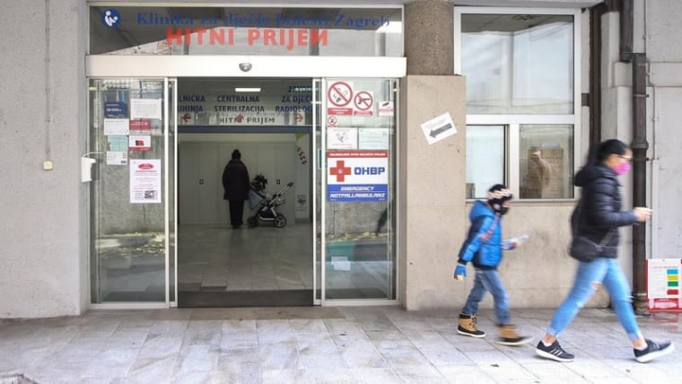 Das Kind befindet sich im Zagreber Kinderkrankenhaus (Foto: Zeljko Lukunic / PIXSELL)
