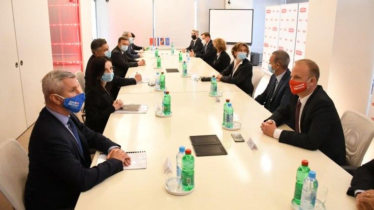 Plenković delegation with Podravka Board (Photo: Damir Spehar/PIXSELL)