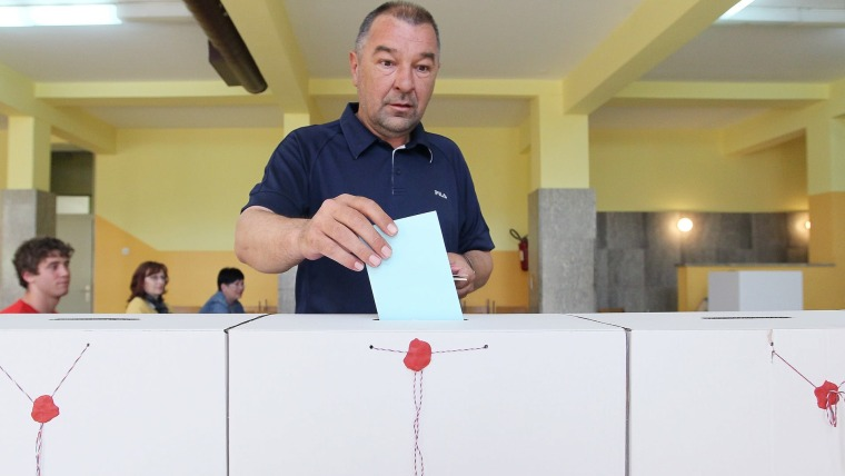Voting station in Koprivnica at the 2013 elections (Photo: Marijan Susenj/PIXSELL)