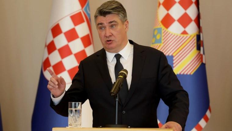 Staatspräsident Zoran Milanović (Foto: Robert Anic / PIXSELL)