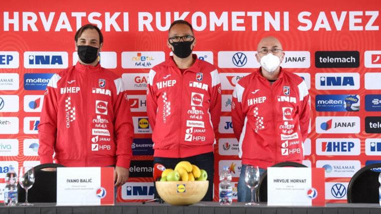 Ivano Balić, Hrvoje Horvat und Ninoslav Pavelić (Foto: Marko Lukunic / PIXSELL)