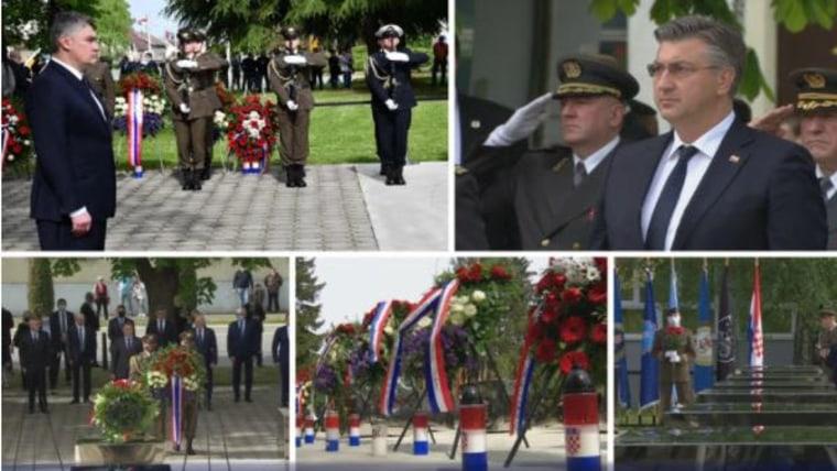 Die Gedenkfeier in Okčani (Foto: HTV / HRT)