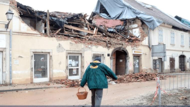 Petrinja following the earthquake (Photo: Sanjin Strukic / PIXSELL)