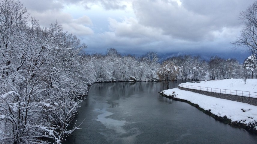 Gospić - river Novčica in winter magic