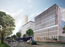 Render of the planned 13-storey office building in Wroclaw, Poland (Courtesy of Skanska)