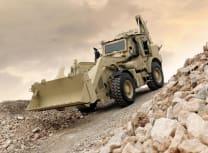 The 17.5 tonne, 6.7 litre-engine machines are used for earthmoving, building fortifications and clearing ground (JCB)