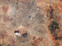Dodoma from space, image from the International Space Station in 2009 (Nasa/Public domain)