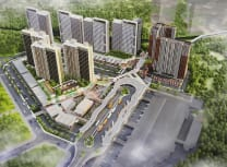 Mitbana's render of the first phase of the six-hectare town linked to Cisauk Train Station (PT Sinar Mitbana Mas)