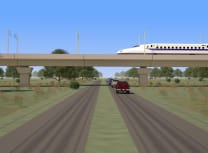 A rendering of the Texas Central high-speed railway in operation (Courtesy of Texas Central LLC)