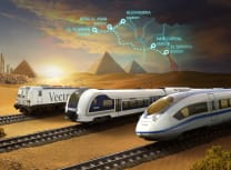 The first line will run 460km from Ain Sokhna on the Gulf of Suez in the east, through the New Administrative Capital near Cairo and on to El Alamein on the Mediterranean coast (Courtesy of Siemens Mobility)