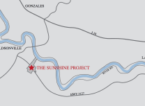 FG LA LLC's map locating the Sunshine Project on the Mississippi River in St. James Parish, Louisiana