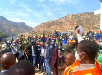 Zambian President Edgar Lungu at the commissioning of the Kafue Gorge Lower Hydropower Station on Friday, 23 July (Salim Henry/State House Press Office via Facebook)