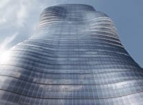 Render of Melbourne's Premier Tower,  which its architect Elenberg Fraser said had been inspired by Beyonce (Elenberg Fraser)