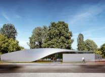 The Cube exhibition centre in Dresden (Henn)