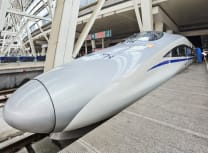 A bullet train in Beijing's southern station (Dreamstime)