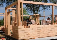 """Check out these DIY """"wood brick"""" houses you can assemble in days"""