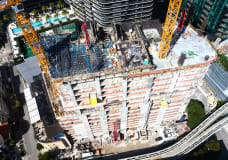 Miami's first Class-A office tower in a decade hits halfway point in booming Brickell