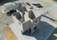 Block-laying robot Hadrian builds first two-storey house