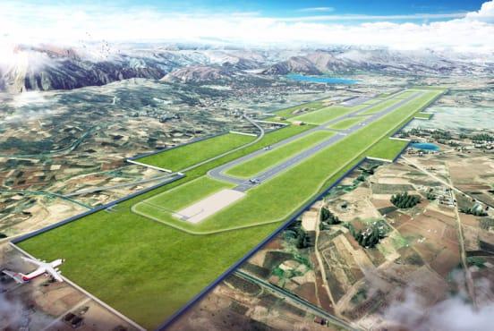 A rendering of Chinchero Cusco International (Courtesy of Hyundai E&C Newsroom)