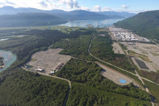 An aerial view of the LNG Canada site in Kitimat, British Columbia, Canada (Fluor/Business Wire)