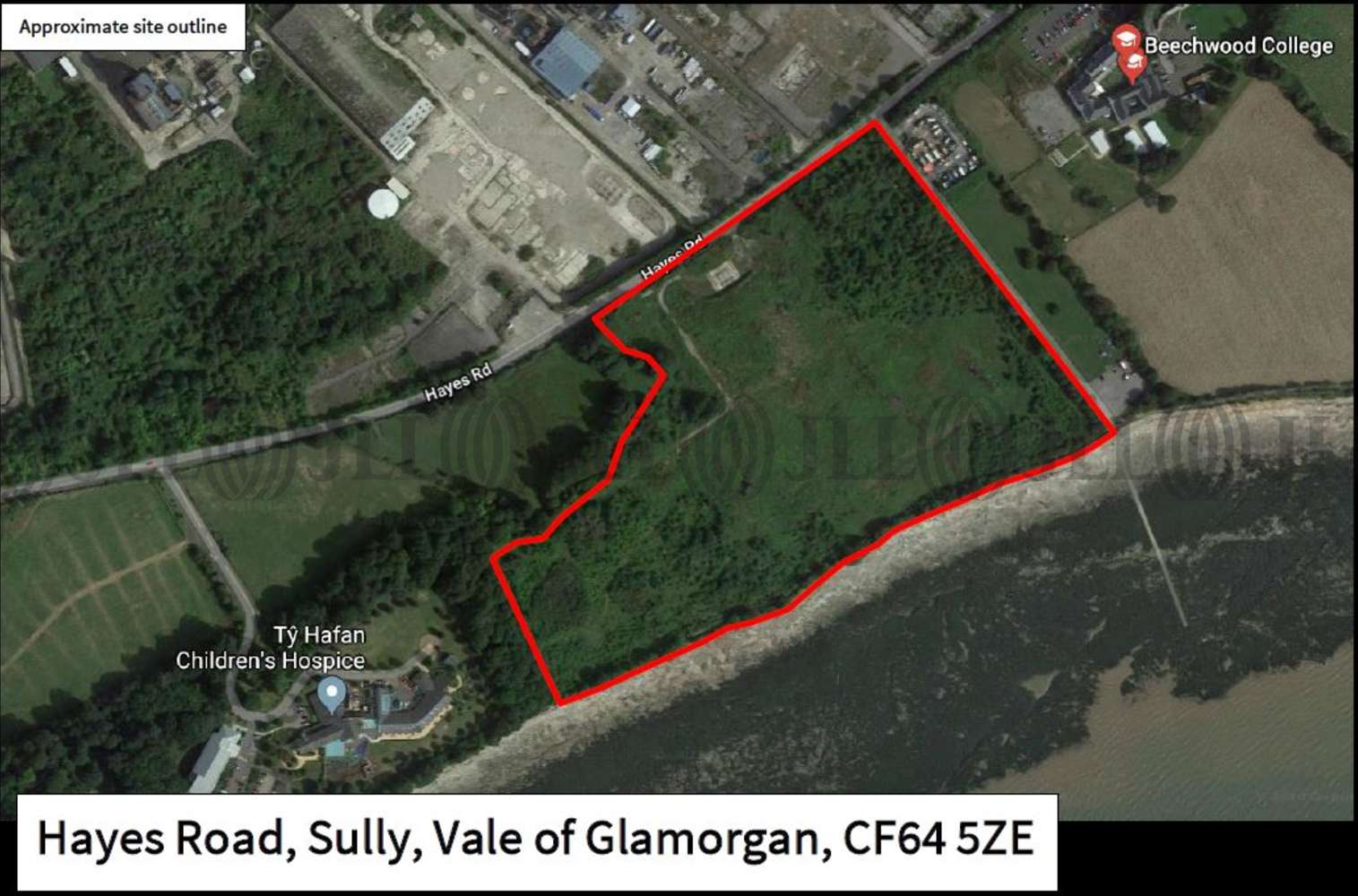 Land Penarth, CF64 5ZE - Development Land for Sale, Hayes Road, Sully, Vale of Glamorgan