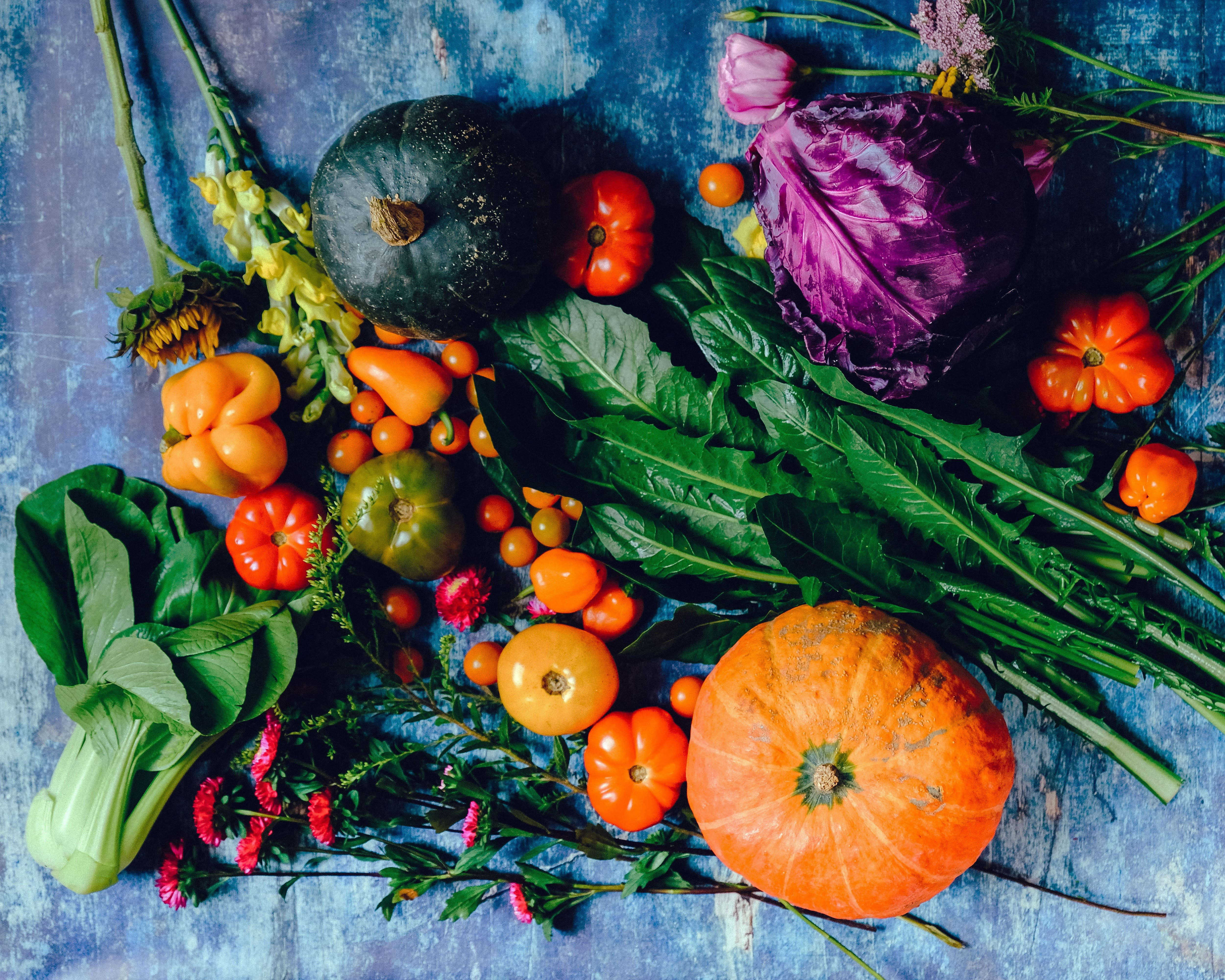 pumpkin and other autumn vegetables