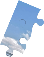 Broken puzzle with a picture of an airplane loading cargo