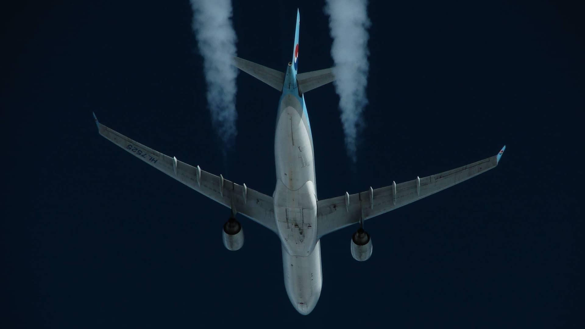 A330 at sky