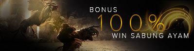 bonus win 100% sabung ayam