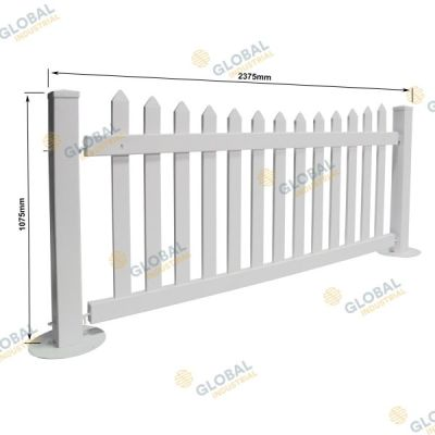 Temporary PVC Picket Fencing