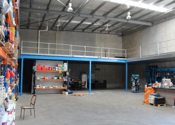 Mezzanine floor for Concrete equipment supplier, Gnangara, WA