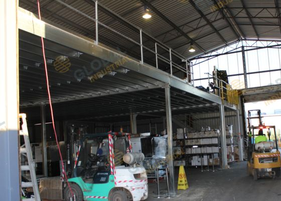 Mezzanine floor for Auctioneer, Welshpool, WA.
