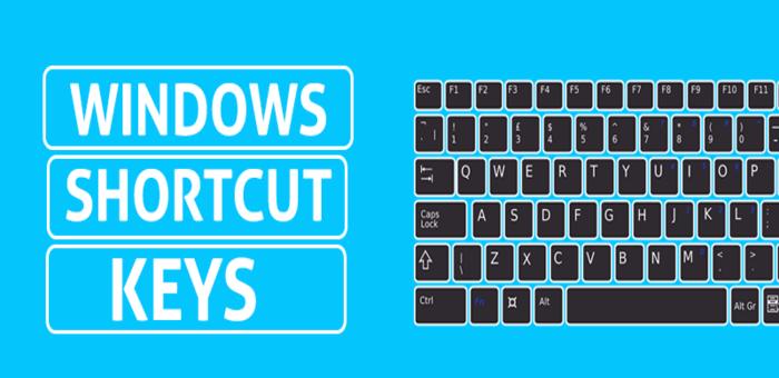 keyboard Shortcuts In Windows 7